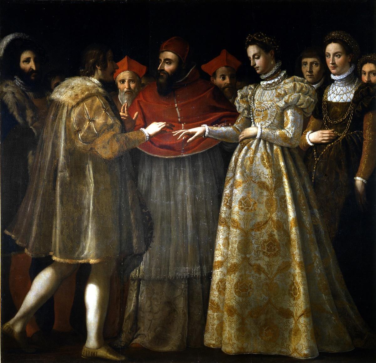 Il dipinto di Jacopo Chimenti sul matrimonio di Caterina de' Medici