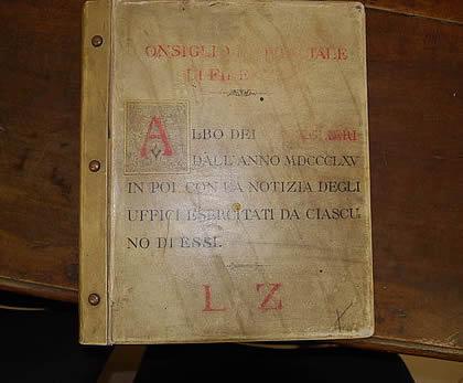 Volume dell'archivio storico