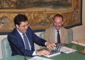 Il sindaco di Besiktas Murat Hazinedar e il consigliere delegato per la Cultura della Citta' metropolitana di Firenze Emiliano Fossi