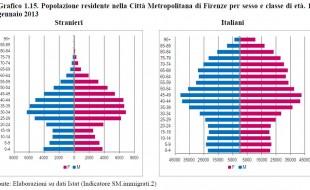 """Grafico dal Report """"Il profilo sociale della Città Metropolitana di Firenze"""""""