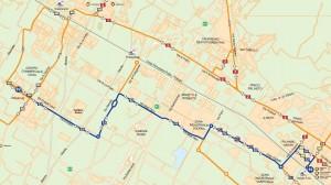 Mappa della nuova linea 92