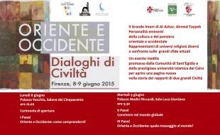 Programma della conferenza Oriente e Occidente, dialoghi di civiltà