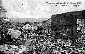 Rischio sismico - terremoto nel mugello del 1919