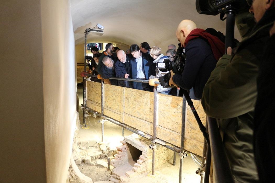 Sopralluogo nel sottosuolo di Palazzo Medici Riccardi