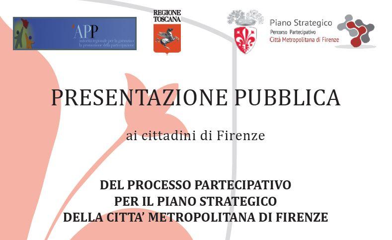 Invito incontro Piano Strategico metropolitano Firenze