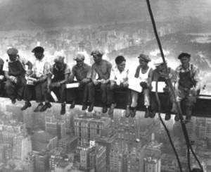 Foto storica di lavoratori