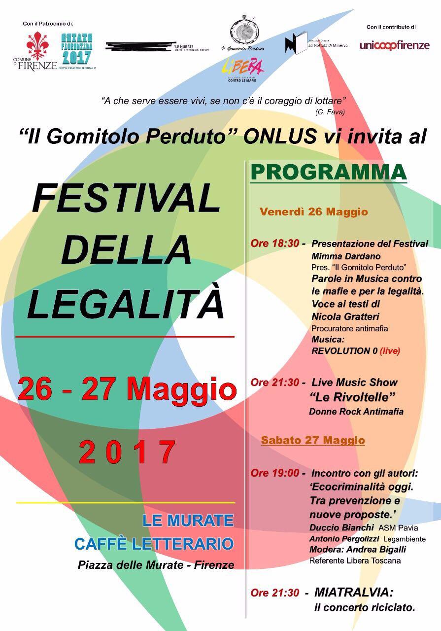 Locandina Festival della Legalità