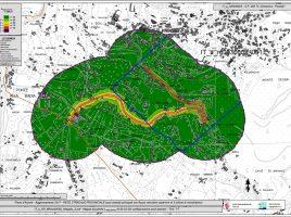 Mappa dal Piano d'azione metropolitano contro l'inquinamento acustico
