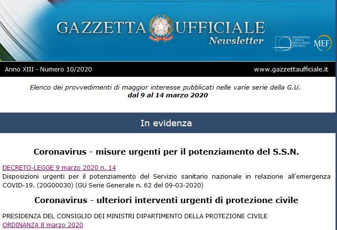 Copertina decreto curaitalia