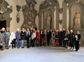 Partecipanti alla Festa dell'8 marzo in Palazzo Medici Riccardi