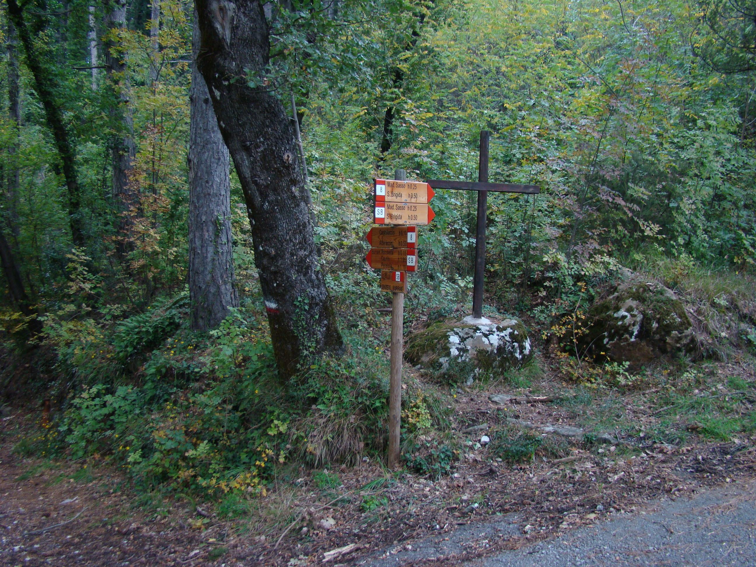 Cartelli CAI alla partenza di alcuni sentieri della ANPIL (di Giuliana Profeti)