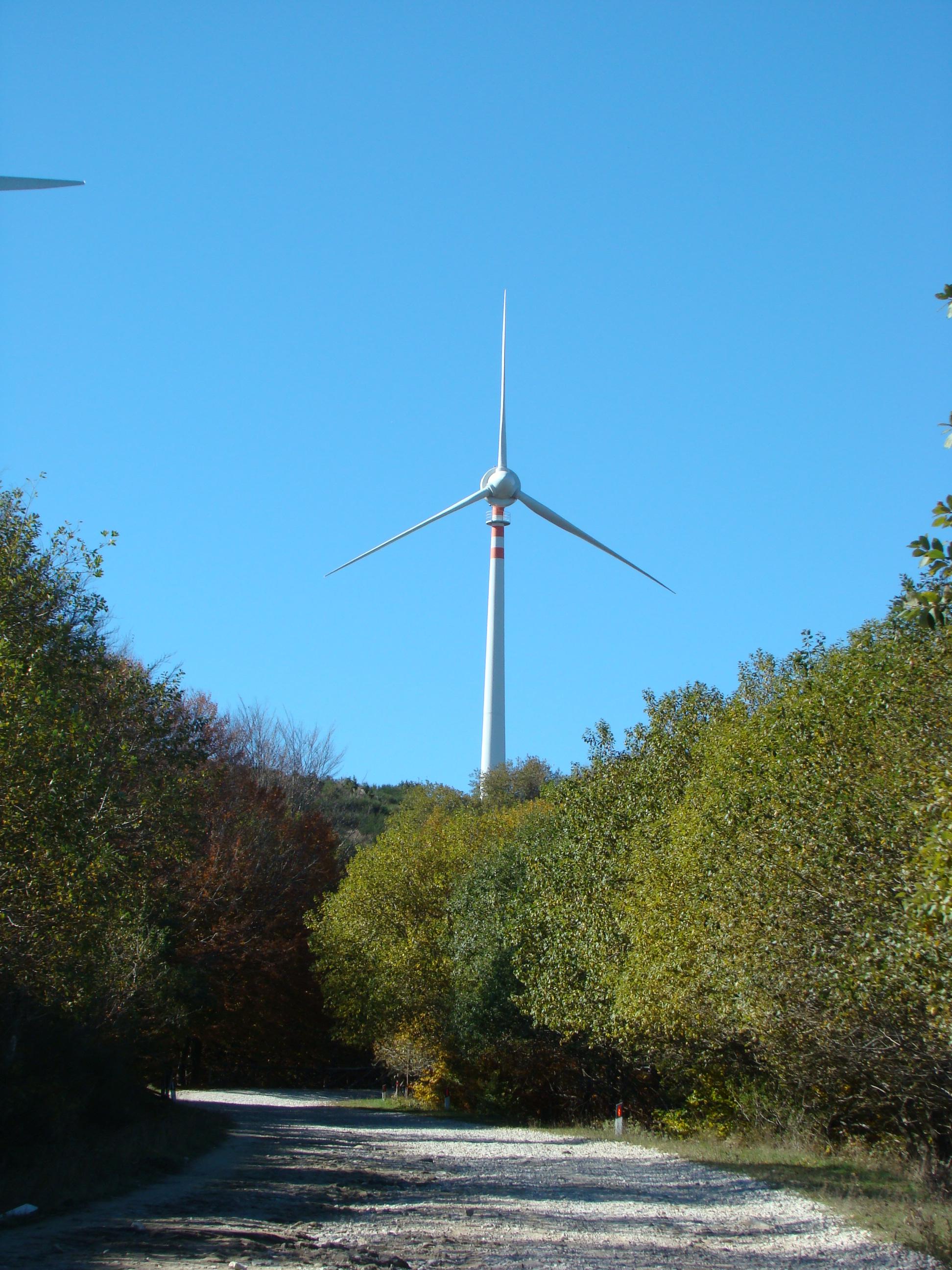 Vista sulla Pala eolica dalla strada vicinale dei poggi (di Giuliana Profeti)