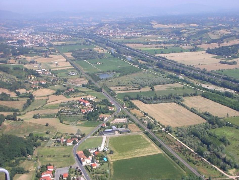Veduta aerea della Garzaia (di Lorenzo Venturi)