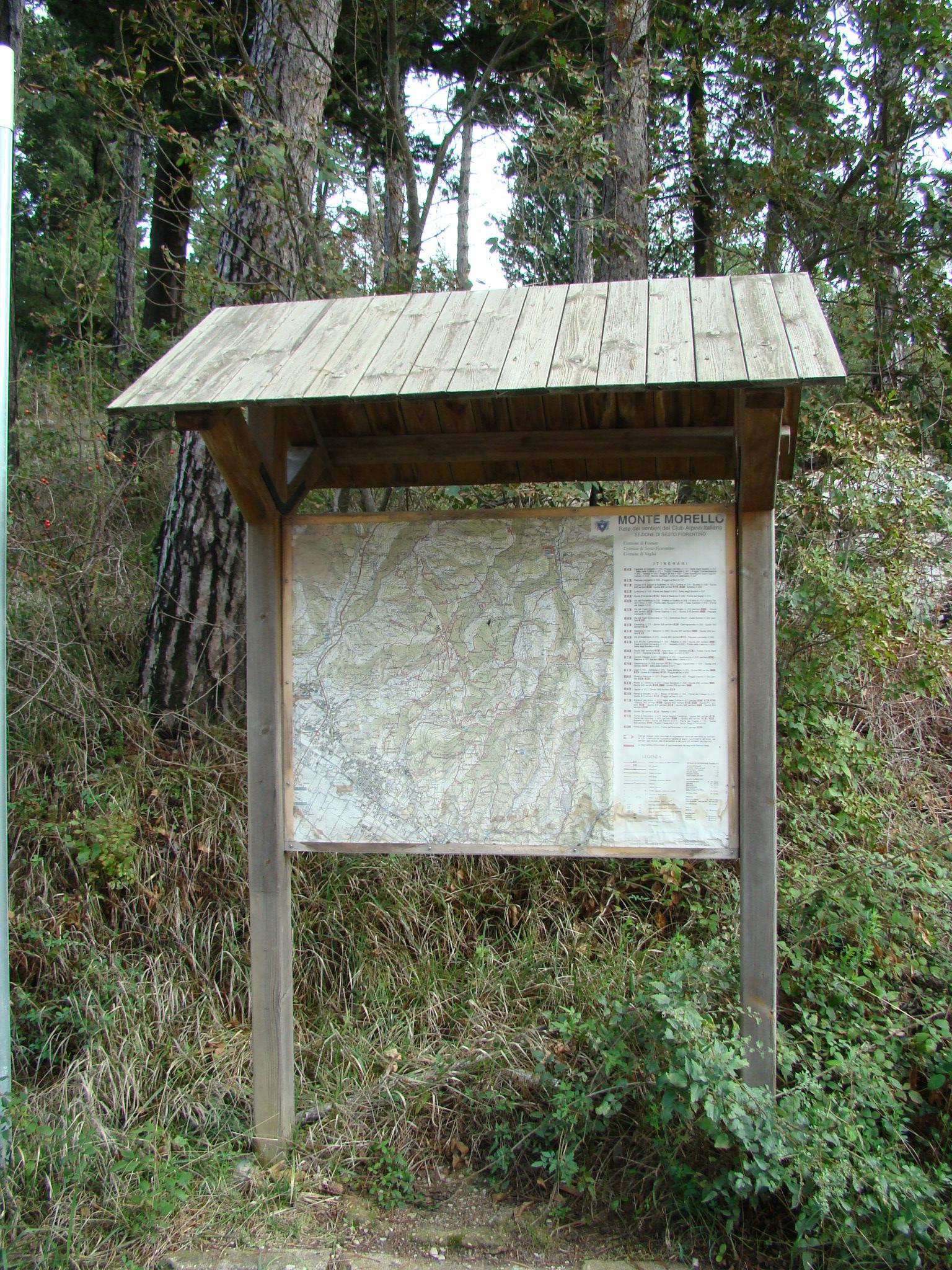 Bacheca informativa sull'area protetta (di Giuliana Profeti)