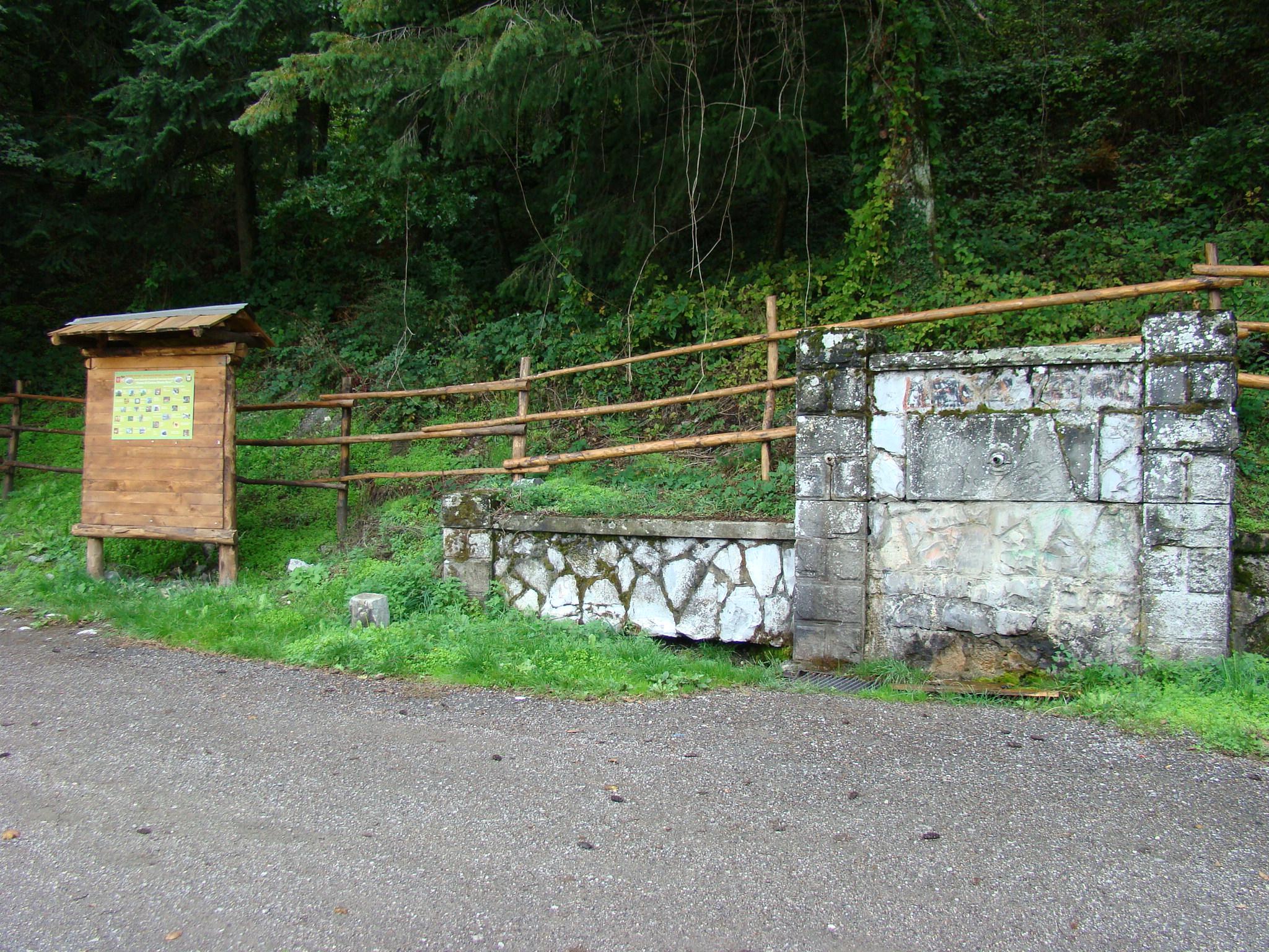 Ingresso dell'area protettain località Fontanina (di Giuliana Profeti)