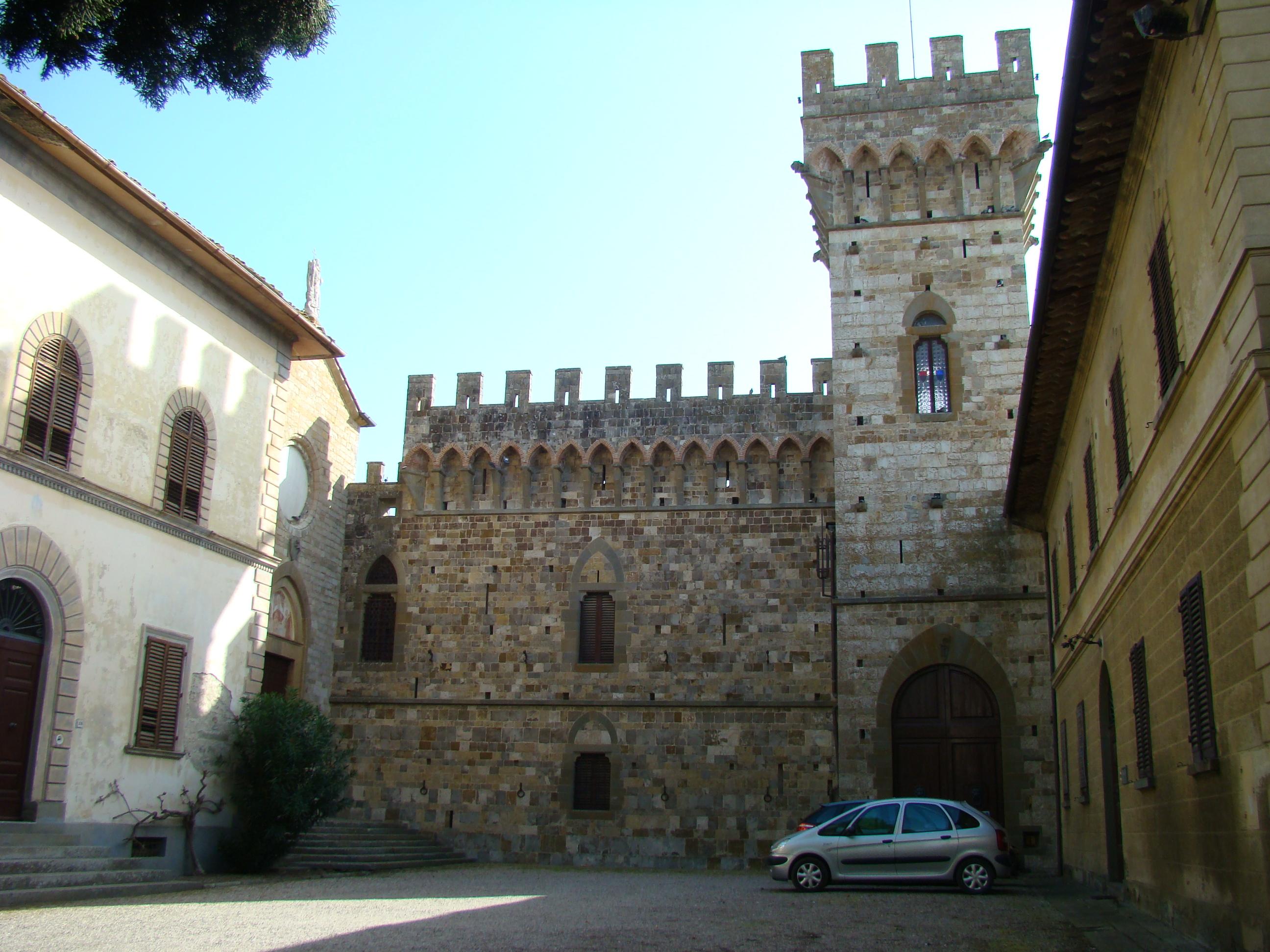 Cortile esterno della Badia a Passignano (di Giuliana Profeti)