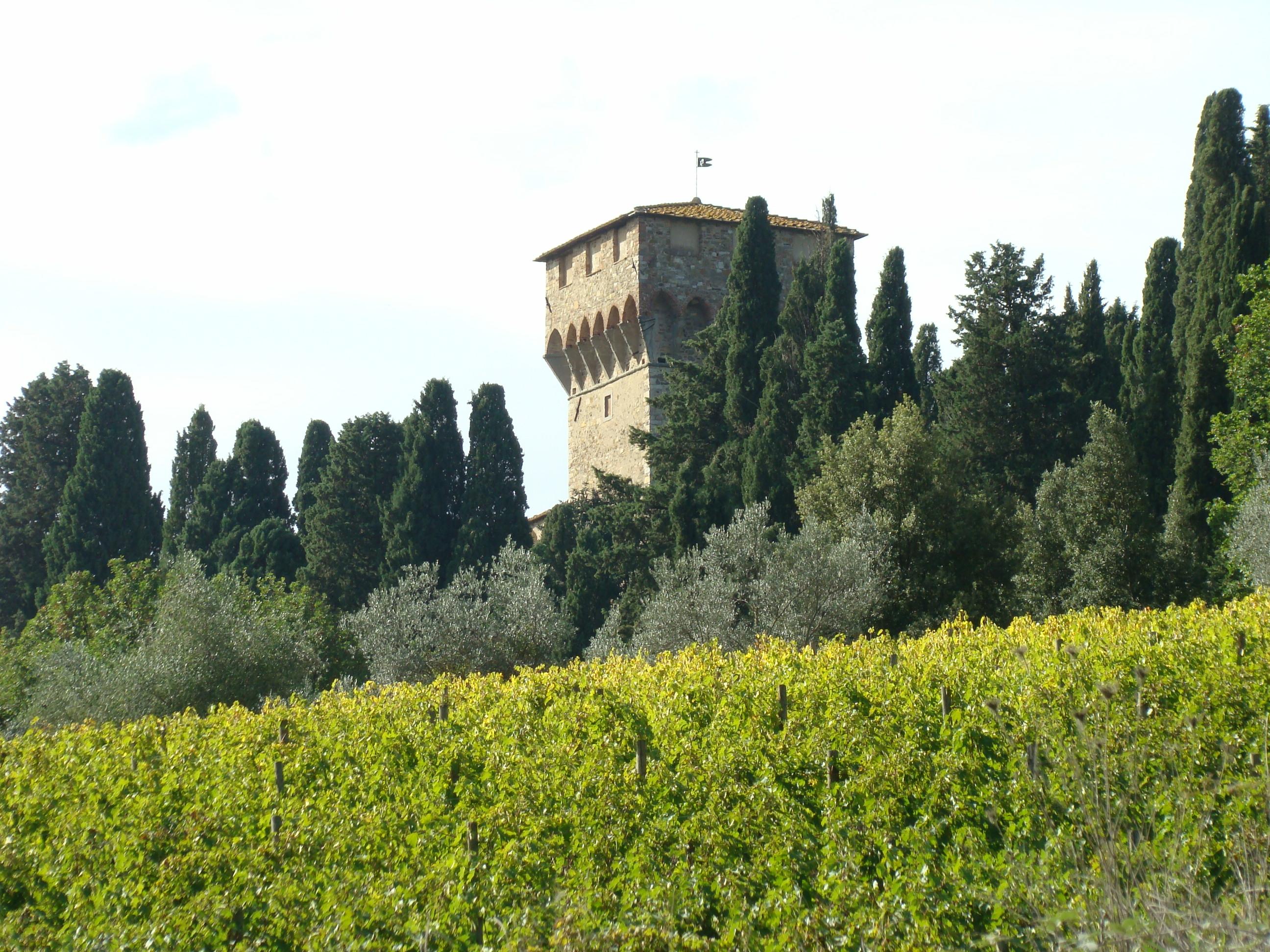 La Badia a Passignano vista dalla Strada di Poggio al Vento (di Giuliana Profeti)