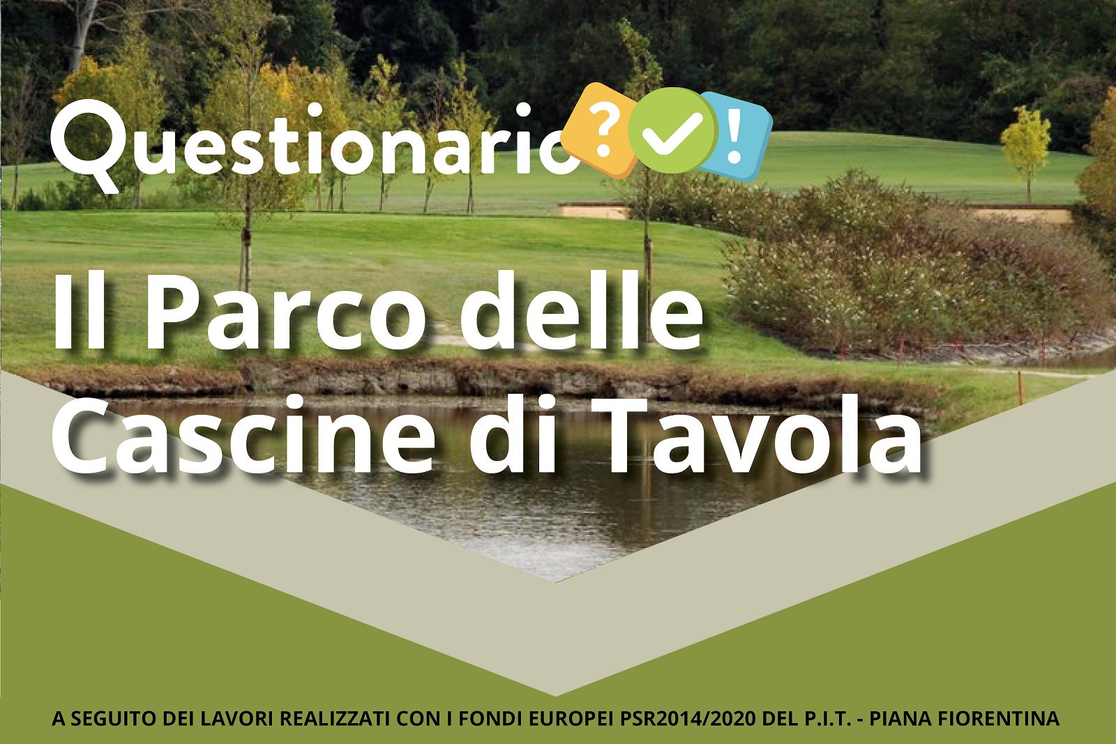Banner del questionario sul Parco delle Cascine di Tavola