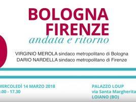 La locandina dell'evento Bologna-Firenze, andata e ritorno