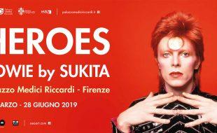 L'invito per la mostra fotografica su David Bowie