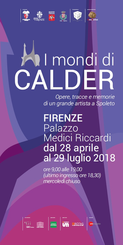 La locandina della mostra 'I mondi di Calder'