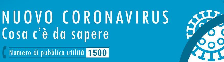 Banner nuovo coronavirus