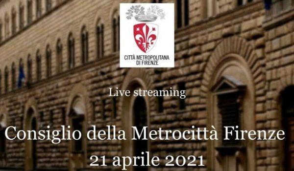 Consiglio Metropolitano mercoledì 21 aprile 2021