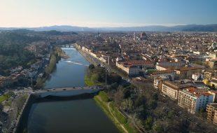 Un'immagine panoramica di Firenze
