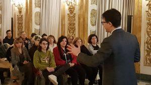 Il Sindaco Dario Nardella parla con gli studenti e i dirigenti scolastici