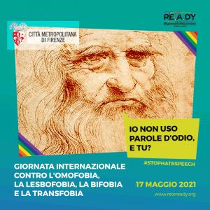 Giornata contro l'omofobia, la lesbofobia, la bifobia e la transfobia- Locandina