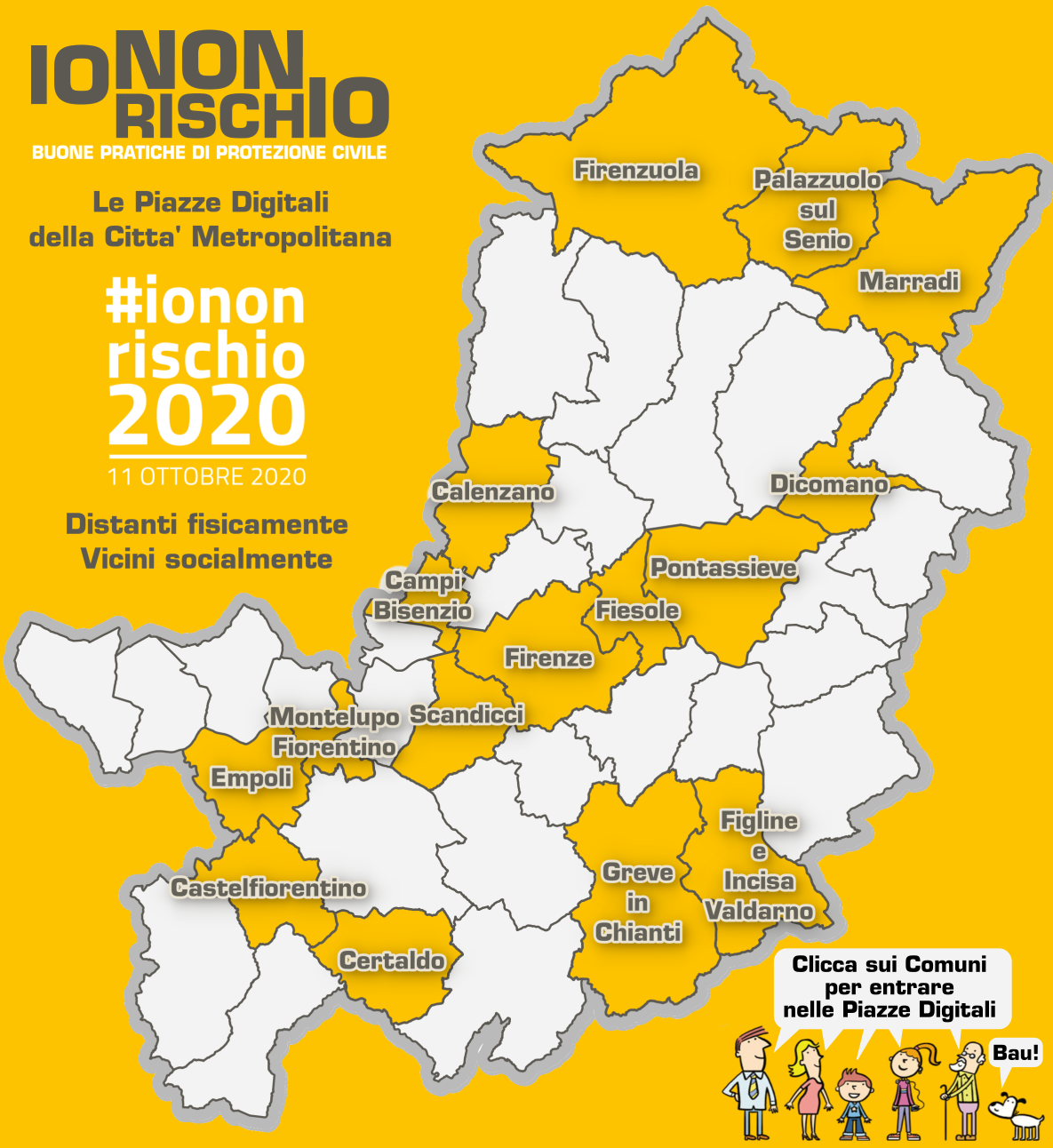 Il logo della campagna di Protezione civile 'Io non rischio 2020'