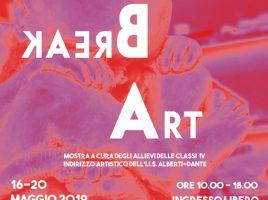 """Locandina della mostra """"Let's break art"""""""
