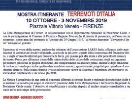Locandina Mostra 'Terremoti d'Italia'
