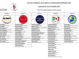 Il manifesto per le elezioni della Città Metropolitana di Firenze nel 2019