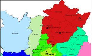 Dislocazione geografica dei dipendenti della Metrocittà che hanno risposto al sondaggio
