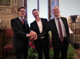 I Sindaci Dario Nardella, Francesco Casini e Paolo Sottani