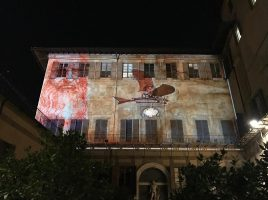 Le luci di F-light nel Giardino di Palazzo Medici Riccardi