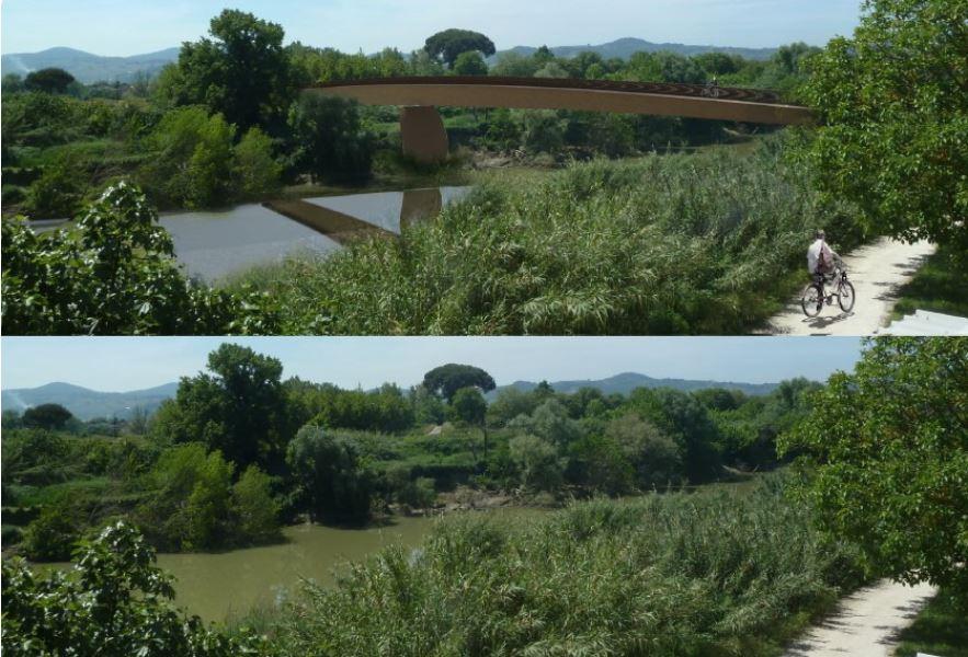 Progetto per la passerella di Badia a Settimo - San Donnino