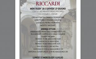 Il programma dei concerti in Palazzo Medici Riccardi