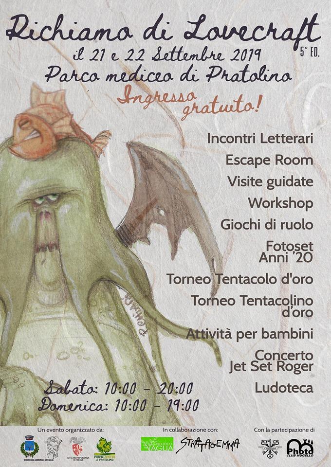 La locandina dell'evento dedicato a Lovecraft