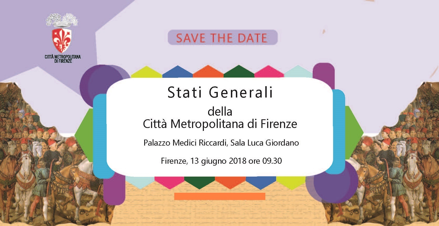 L'invito per gli Stati Generali della Città Metropolitana di Firenze