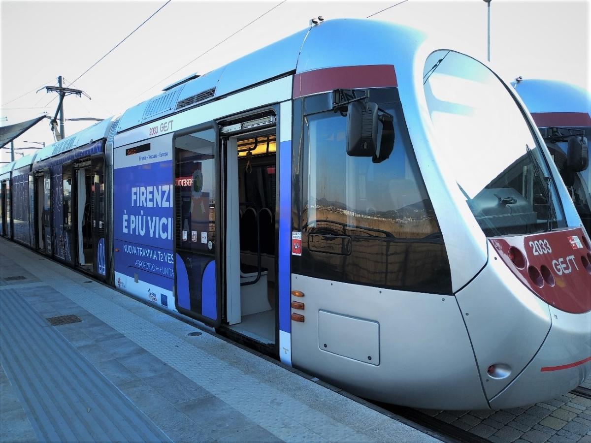 Un'immagine della tramvia