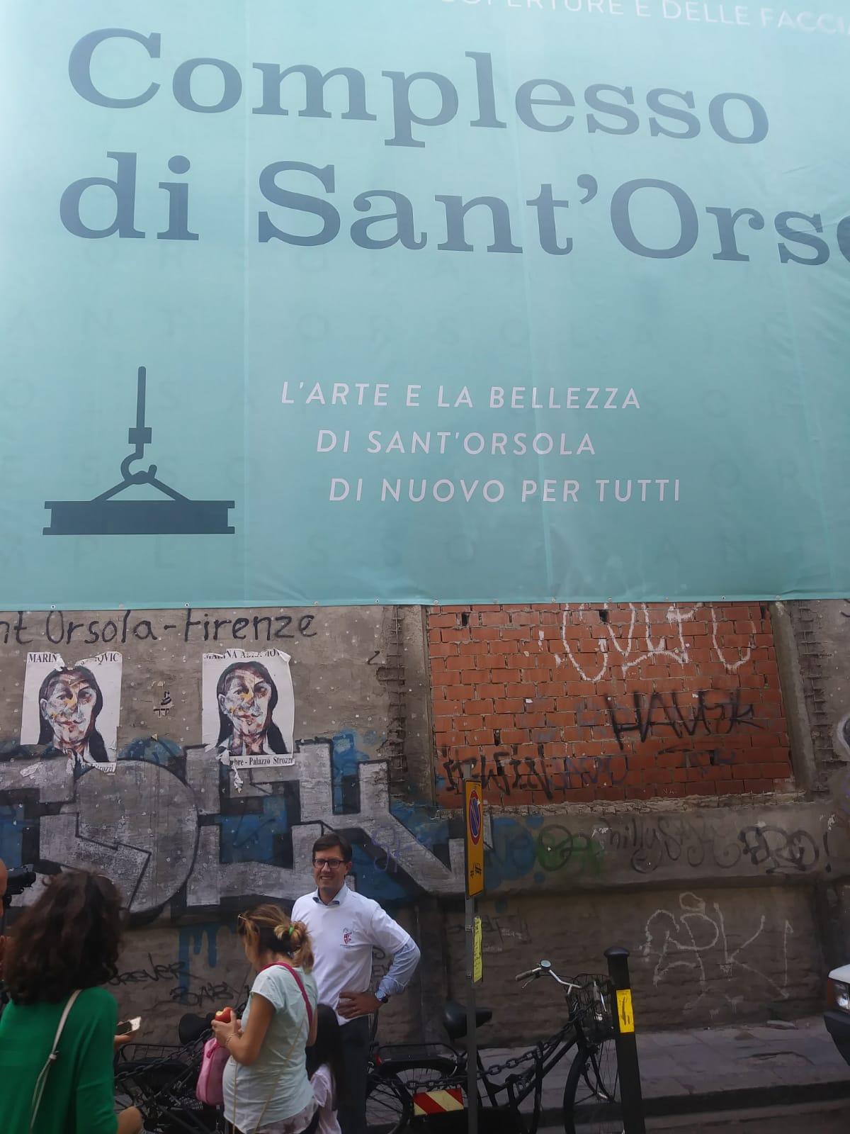 Il Sindaco Dario Nardella durante il sopralluogo a Sant'Orsola