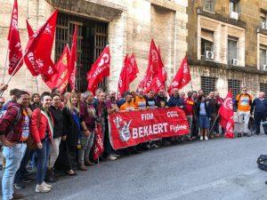 Gli Amministratori al presidio dei lavoratori della Bekaert
