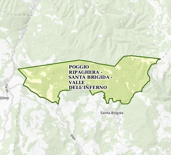 Poggio Ripaghera - Santa Brigida - Valle dell'Inferno
