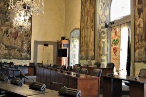 La Sala del Consiglio della Città Metropolitana di Firenze