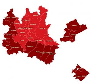 Mappa zone rosse